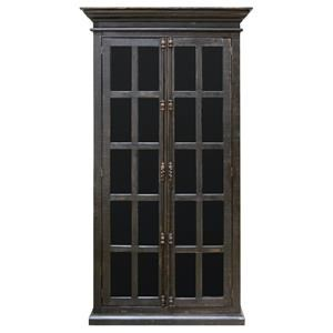 Vintage Accents Madden Black Vitrine Cabinet