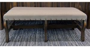 Vintage Accents Linen Bench in Rodeo