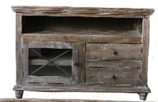 "Vintage Accents 52"" Barnwood Console - Item Number: JON-102652"