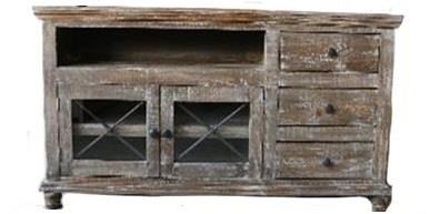 """Vintage Accents 63"""" Barnwood Console - Item Number: JON-102663"""