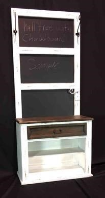 Vintage Accents Hall Tree with Chalk Board - Item Number: VINTA-F-JONHATRCH-NW