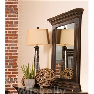 Vintage CLAUDIA-ANTIQUE BLACK Mirror