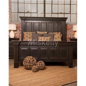 Vintage CLAUDIA-ANTIQUE BLACK King Panel Bed