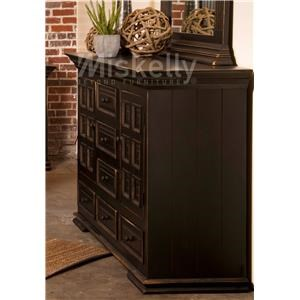 Vintage CLAUDIA-ANTIQUE BLACK Solid Wood Dresser