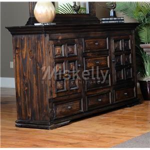 Vintage CLAUDIA- Dark Stain Solid Wood Dresser