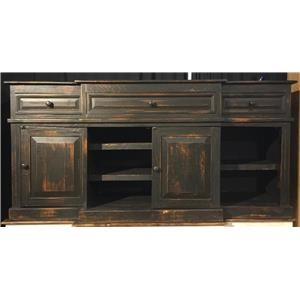 Vintage Consoles Gaucho Media Console in Nero Black