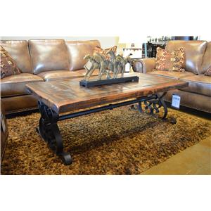 Vintage Daniels Iron Base Coffee Table