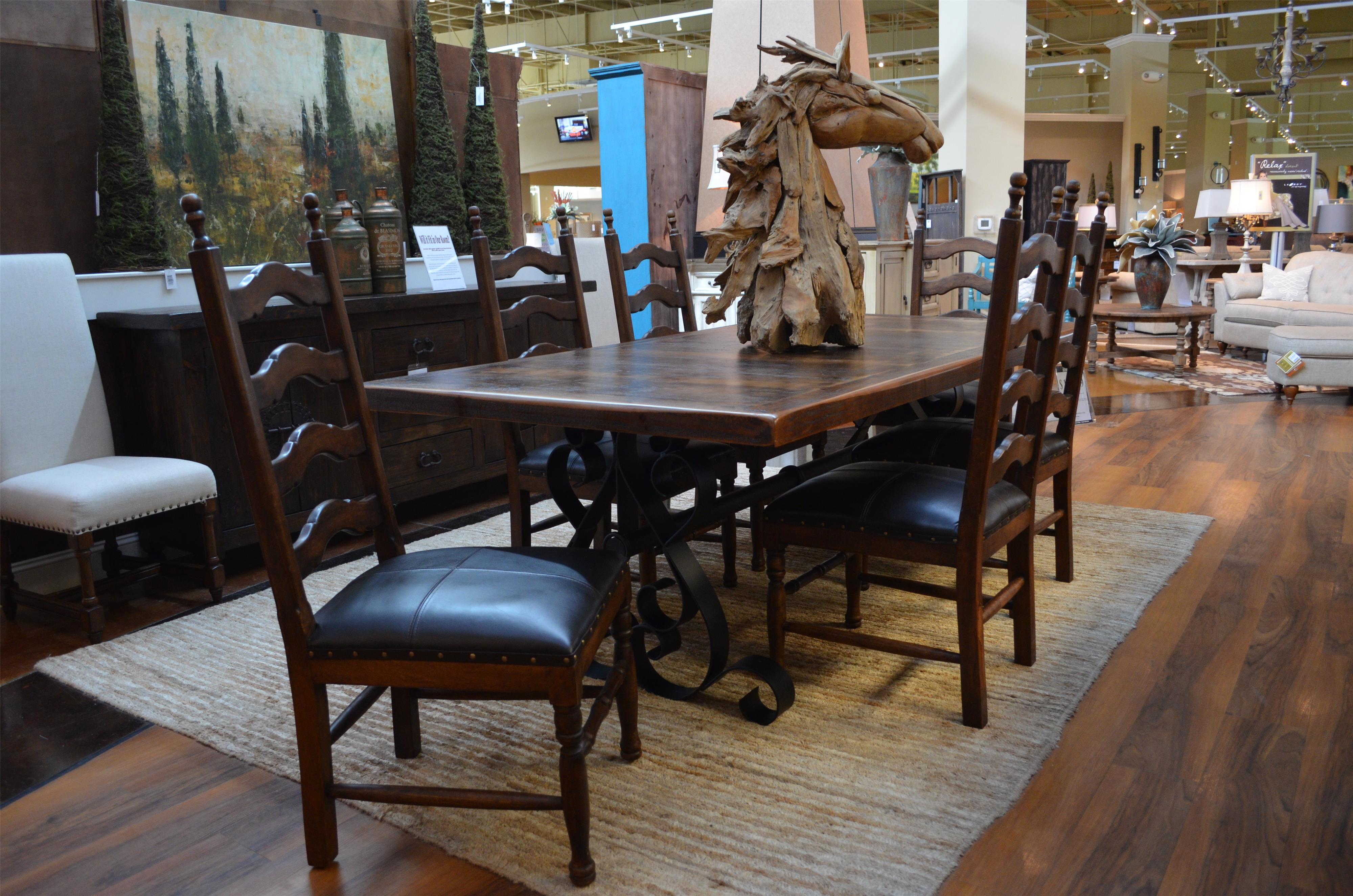 Vintage Daniels Iron Base Dining Table chairs pictured not