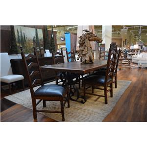 Vintage Daniels Iron Base Dining Table