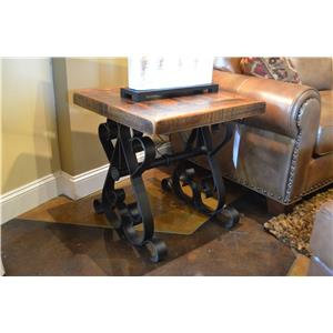 Vintage Daniels Iron Base End Table