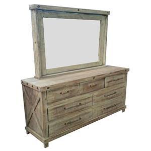 Vintage Industrial Dresser & Mirror