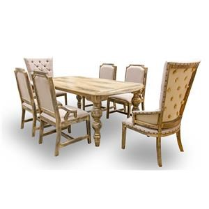 Vintage Calais Calais Dining Table & 6 Chair Set