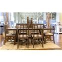 Vintage Industrial Dining Dining Table & 6 Side Chairs - Item Number: GRP-JONINDU-TBL6