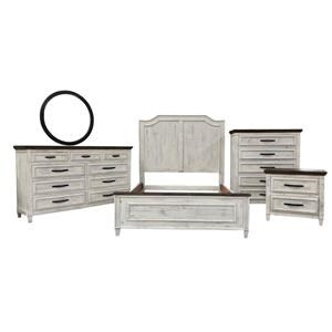 Queen Bed, Dresser, Mirror & Nightstand
