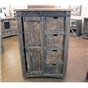 Vintage Mesh Barnwood Sliding Door Chest - Item Number: JON1025CH-BARNWOOD
