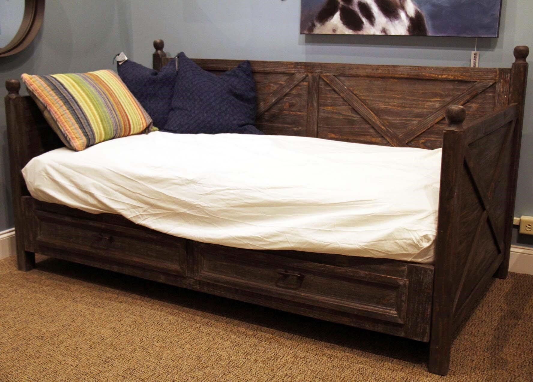 Barnwood Twin Daybed with Drawers
