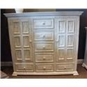 Vintage Chalet Nero White Mule Chest - Item Number: F-MIC3701DRSCABINET-NW
