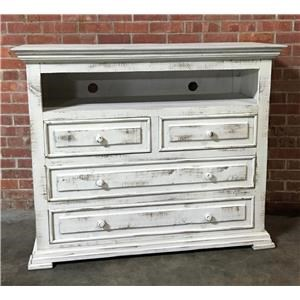 Vintage Chalet Nero White Media Chest
