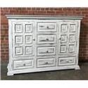 Vintage Chalet Nero White Dresser - Item Number: VINTA-F-MIC3700NDSR-NW