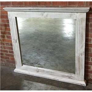 Vintage Chalet Nero White Mirror