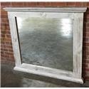 Vintage Chalet Nero White Mirror - Item Number: VINTA-F-MIC3722MIRR-NW