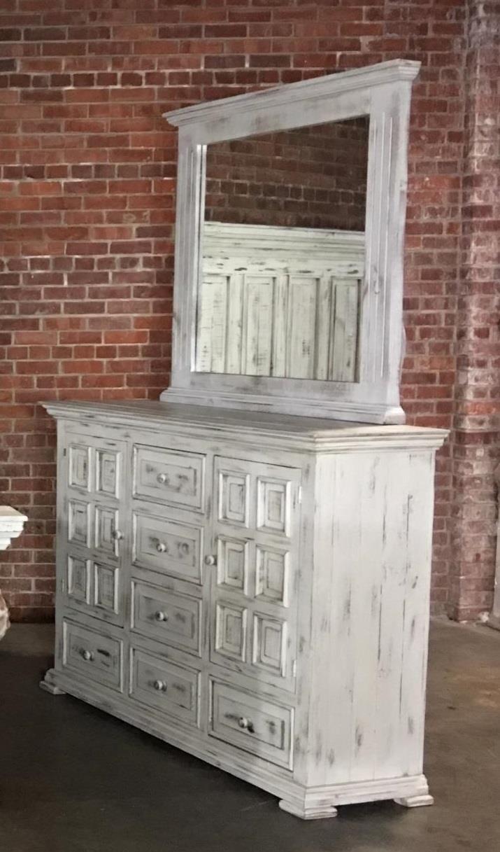 Nero White Dresser & Mirror