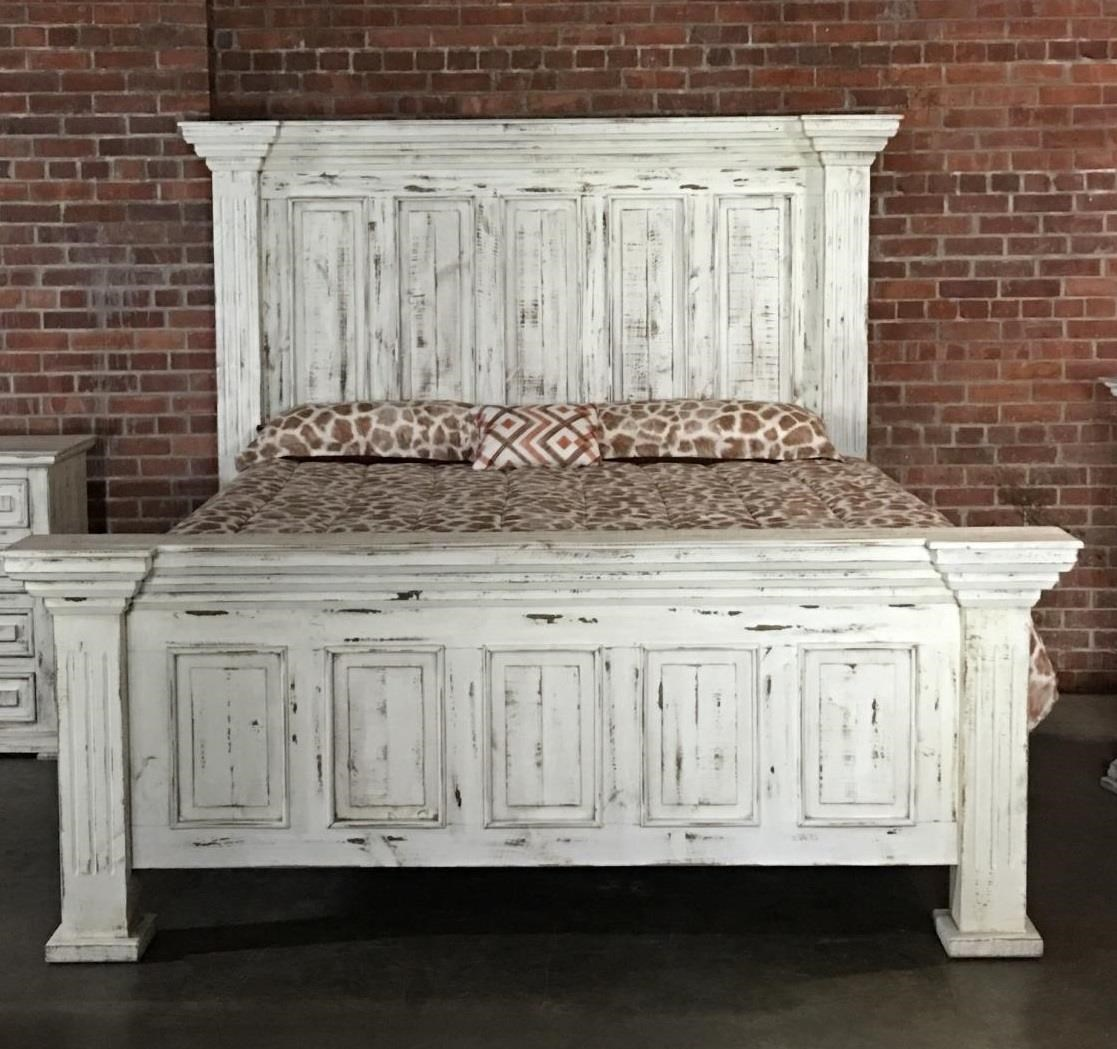 Vintage Chalet VINTA-GRP-MIC37-KINGBED King Nero White Bed | Great ...