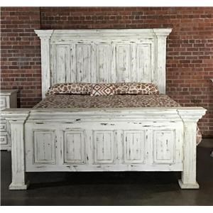 Vintage Chalet Queen Nero White Bed
