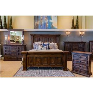 Vintage Claudia Queen Bed, Dresser, Mirror & Nightstand