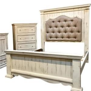King Bed with Padded Headboard