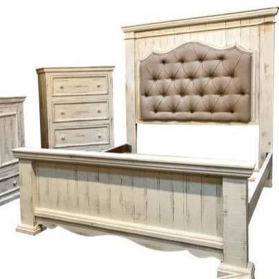 Queen Bed with Padded Headboard