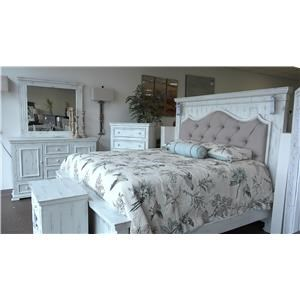Queen Bed, Dresser, Mirror and Nightstand