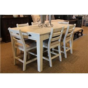 Counter Height Table & 6 Counter Chairs
