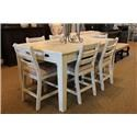 Vintage Joanna Counter Height Table & 6 Counter Chairs - Item Number: GRP-JOANNA-COUNTERTBL6