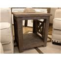 Vintage Occasional Tables X Squared End Table - Item Number: F-JON115-LAT