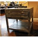 Vintage Occasional Tables Toluca Barnwood End Table - Item Number: F-MIC3046KLAT BW