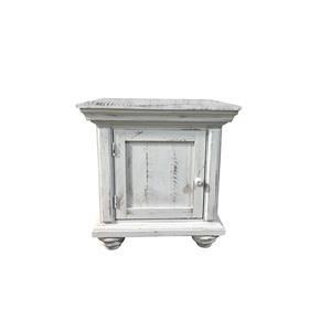 Nero White End Table