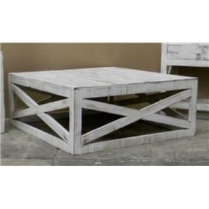 Cross Cocktail Table in Nero White