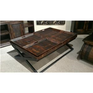 Vintage Occasional Tables Coffee Table with Trays