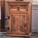 Vintage Rustic Mansion Nightstand - Item Number: 1-BUR1