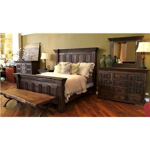 Vintage Wyoming Queen Bed, Nightstand, Dresser and Mirror