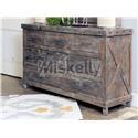 Vintage Industrial Solid Wood Dresser - Item Number: JONINDUDREBW