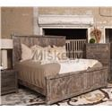 Vintage Industrial Solid Wood Queen Bed - Item Number: JONINDUQHBW+F+R