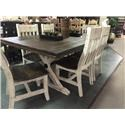 Vintage Warehouse Collection Two Toned Dining Table - Item Number: JONMES-WHS72