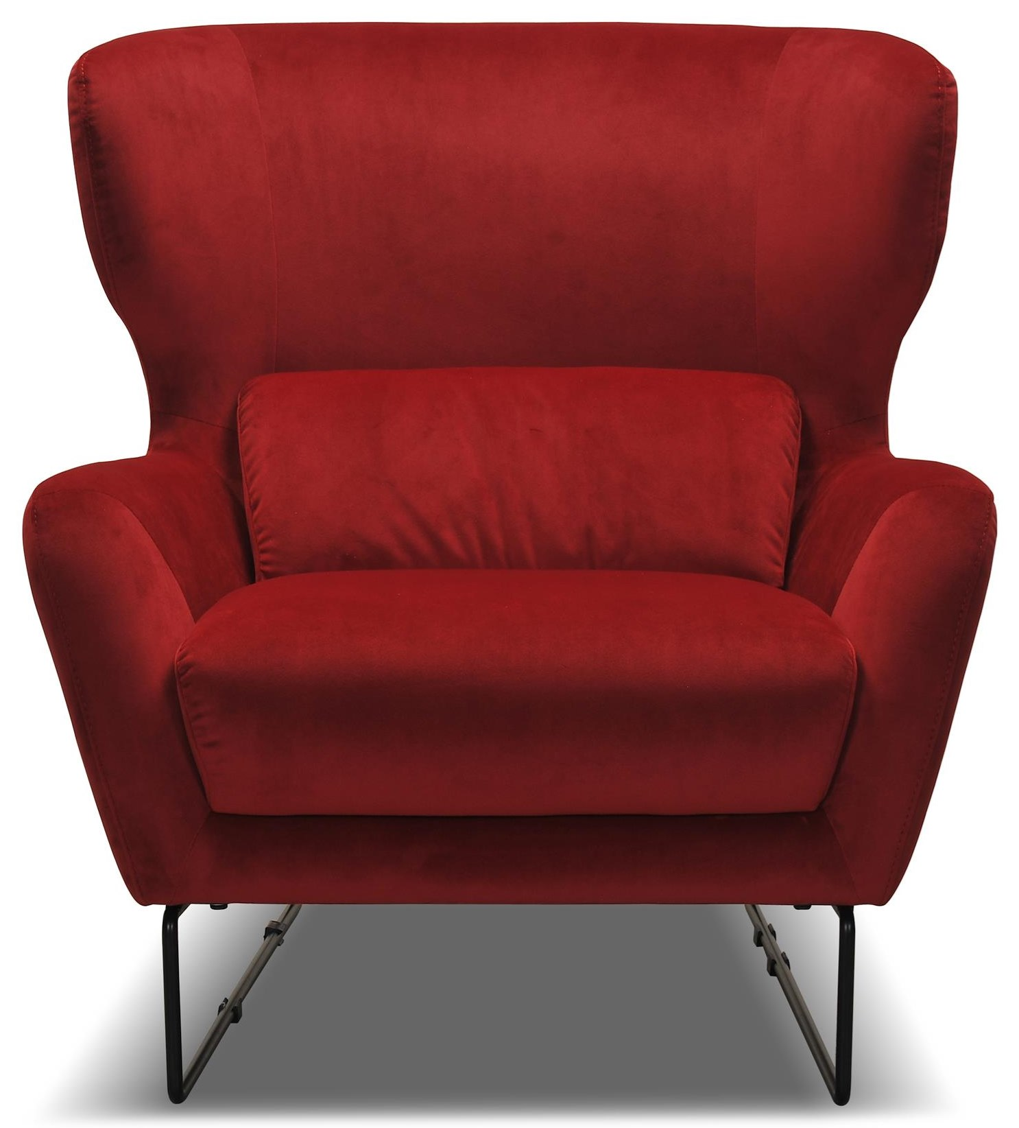 Red Contemporary Velvet Chair