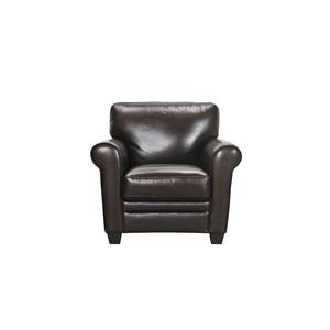 Violino 30960 Leather Chair with Rolled Arms