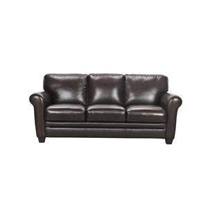 Violino 30960 Leather Sofa with Rolled Arms