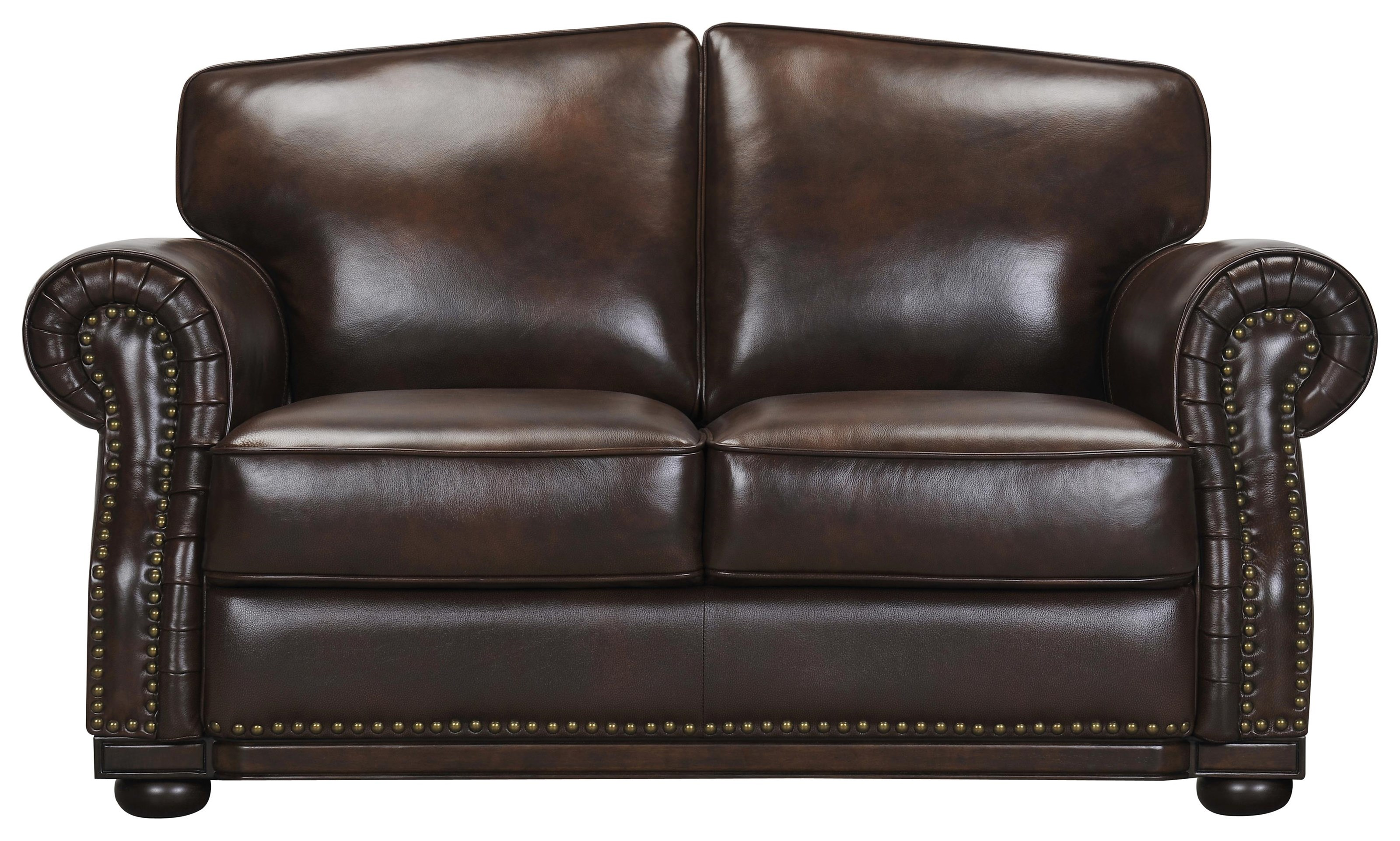 Leather Match Loveseat