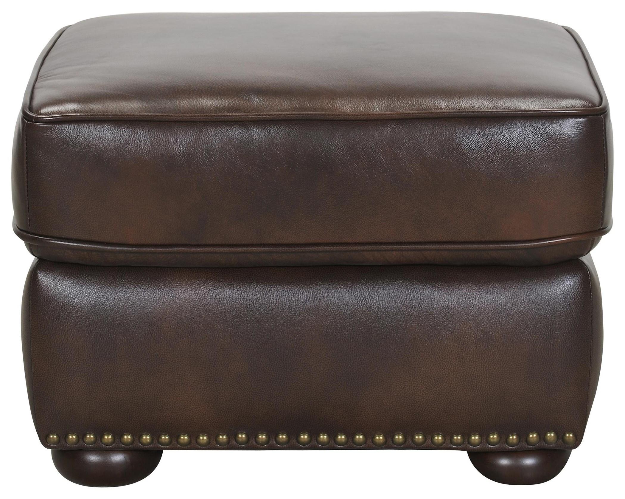 Leather Match Ottoman