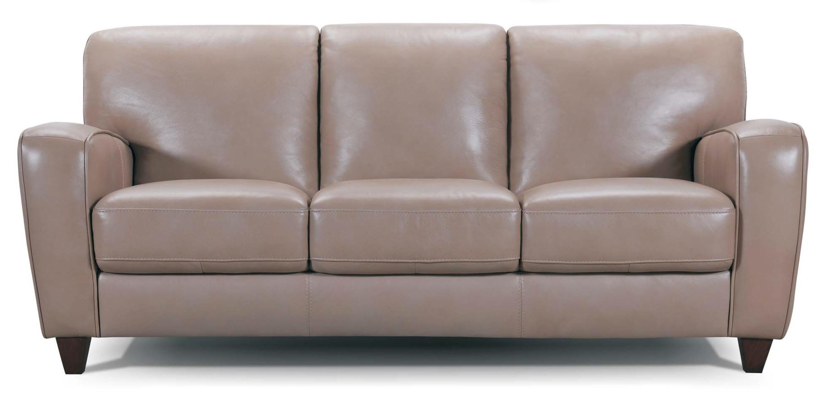 31398 Track Arm Leather Sofa by Violino at Dunk & Bright Furniture